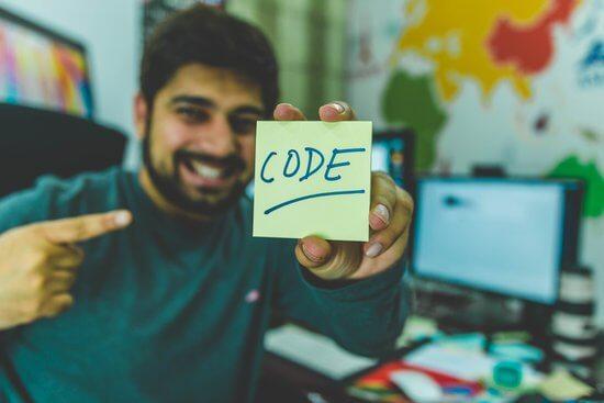 プログラミング男性
